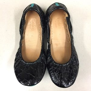 Tieks Black Obsidian Black Patent Leather size 6
